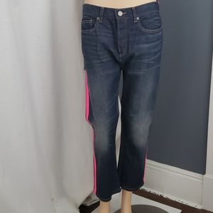 Marc By Marc Jacobs Annie Cropped Jeans With Neon